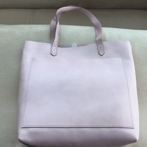 Madewell Leather Transport Tote In Wisteria Dove